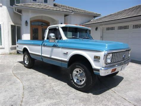 Purchase Used 1969 Chevy Truck 34 Ton 4x4 K20 In Ramona