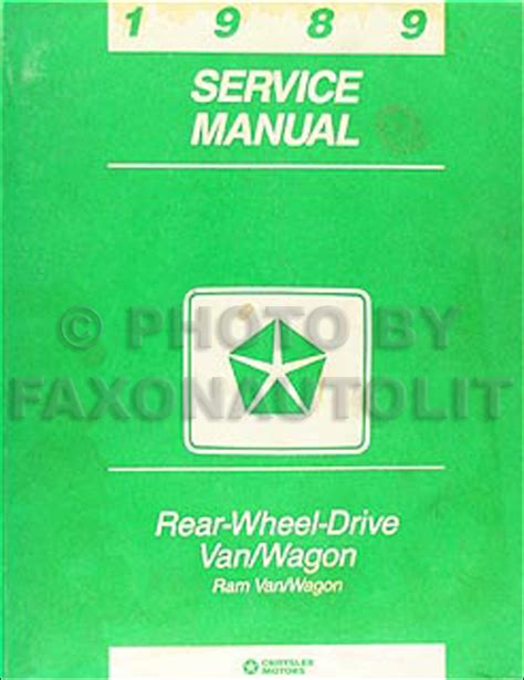 auto repair manual online 1992 dodge ram wagon b250 engine control 1989 dodge ram van wagon repair shop manual original b100 b350