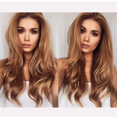 Gold Hair Colour by Copper Gold Hair Color Hair Makeup Lookbook Hair