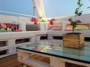Terrassenmöbel Aus Paletten : 50 coole modelle sofa aus europaletten ~ Michelbontemps.com Haus und Dekorationen
