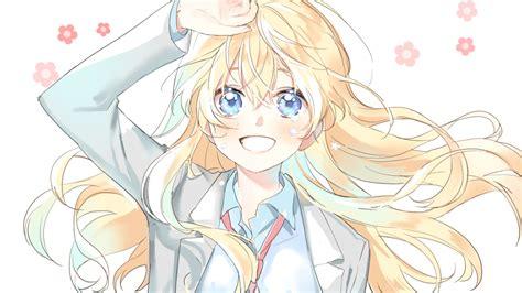 desktop wallpaper cute smile  kaori miyazono anime hd
