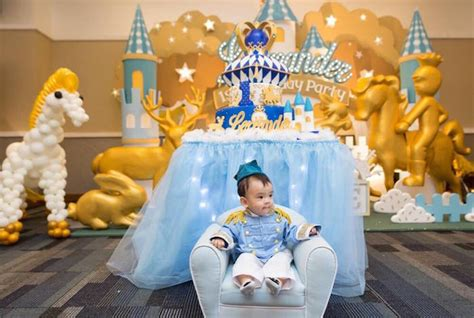 Kara's Party Ideas Prince Royal 1st Birthday Party