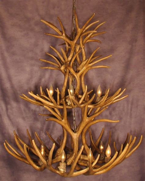 faux deer antler chandelier faux 2 tier mule deer antler chandelier by cdn rl10 ebay