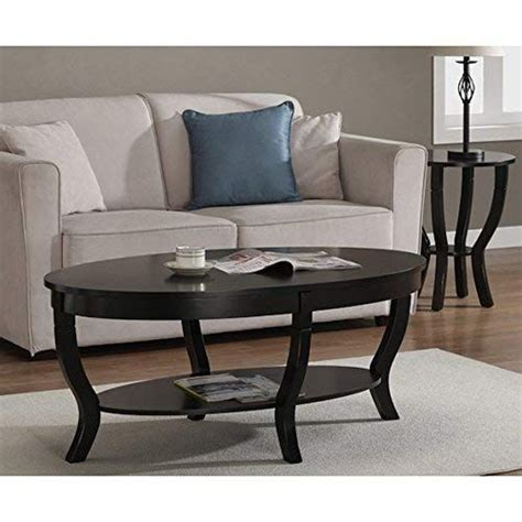 Wide selection of modern coffee tables. Lewis Distressed Black Oval Coffee Table Review | Coffee ...