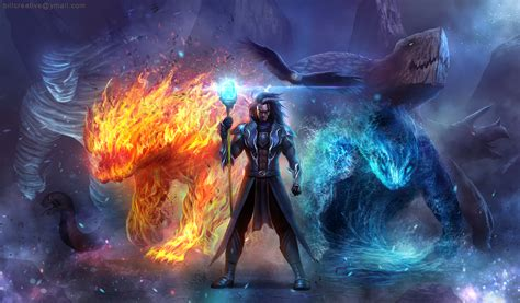 elemental summoner full hd wallpaper and background image