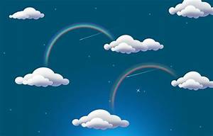 Wallpaper rainbow, rainbow, clouds images for desktop ...