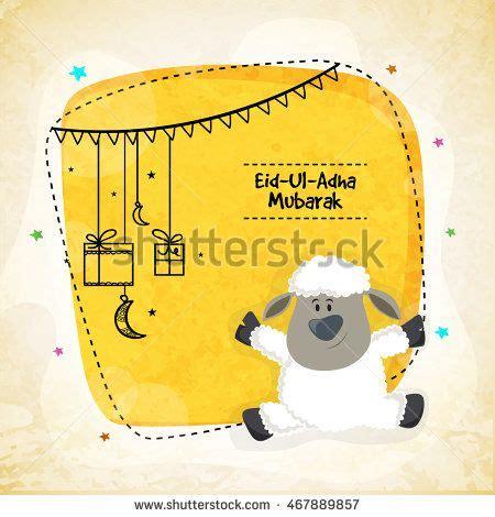 vector greeting card design  cute baby sheep