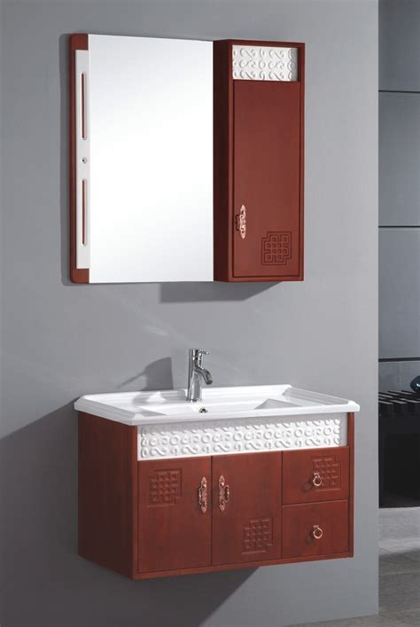 kitchen sinks with cabinets china wall mounted single sink wooden bathrooom vanity 6098