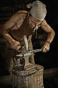 Medieval blacksmith   Stock Photo   Colourbox