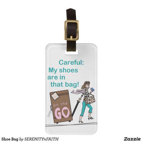 shoe bag luggage tag zazzlecom   monogrammed