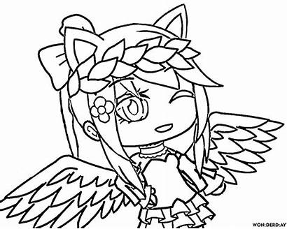 Gacha Coloring Pages Printable Fox Angel Wonder