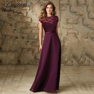 imported wedding party dress grape chiffon floor length With plum dress for wedding