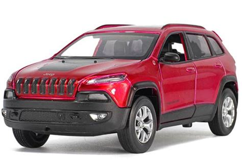 red toy jeep red silver black 1 32 kids diecast jeep cherokee toy