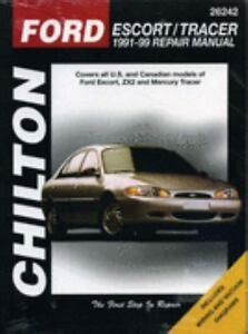 motor auto repair manual 1999 ford escort security system chilton repair manual repair guide ford escort zx2 mercury tracer 1991 1999