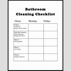 Bathroom Cleaning Schedule  Template  Bathroom Cleaning