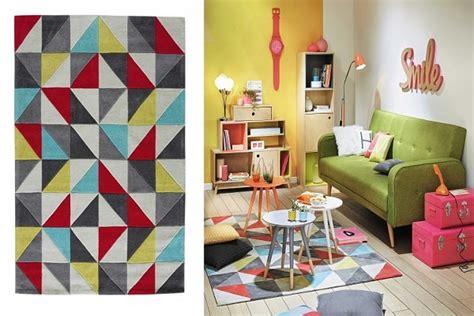 tapis gris jaune cool charmante dco salon moderne tapis