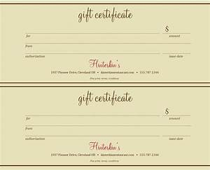 Massage gift certificate template free download 2 best templates ideas for Massage gift certificate template free download