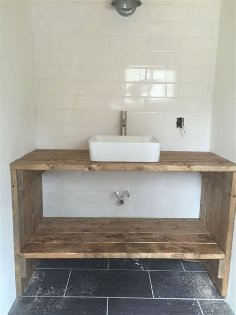homemade vanity   boards tiny house