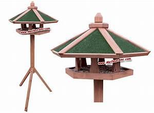 Mangeoire Oiseaux Sur Pied : oiseaux ext rieur jardin mangeoires sur pied mangeoire sur pied toit 6 pans meilleurami ~ Teatrodelosmanantiales.com Idées de Décoration