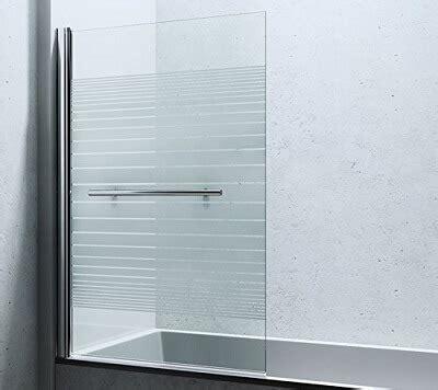 Duschwand aus Glas für Badewanne  Dusche  Walk in Dusche