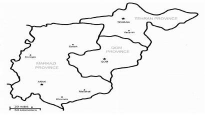 Map Qom Iran Tehran Markazi Capital Provinces