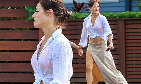 actress  mother   madeleine west  flaunts