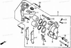 Honda Motorcycle 1988 Oem Parts Diagram For Fr  Brake