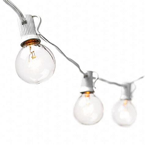 deneve globe string lights with g40 bulbs 25ft