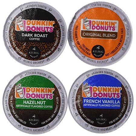 This blend boasts a smooth, nutty taste that helps make waking up that much sweeter. Dunkin' Donut Coffee K-Cups, Variety Pack (Original Blend, Dark Roast, Hazelnut, French Vanilla ...