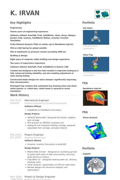 Mechanical Design Engineer Cv Sle by 14 Best Images About Resume On Engineering