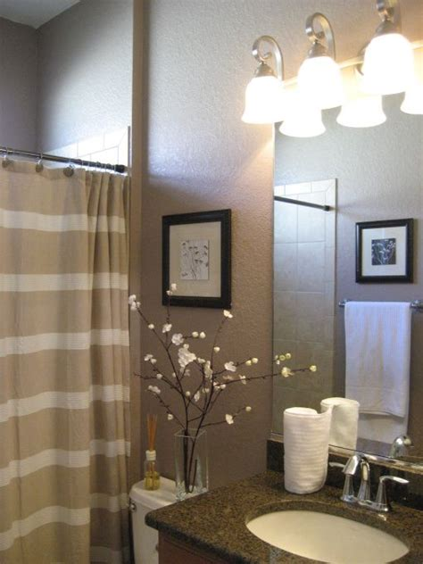 What Color Shower Curtain For A Small Bathroom by Small Guest Bathroom Before All Of The Walls Were A Bland