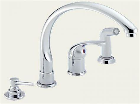 kitchen faucet sizes delta single handle kitchen faucet with spray delta dst