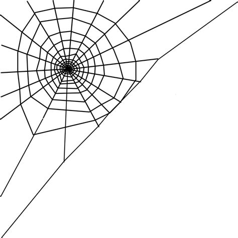 spider web clipart transparent spider web corner 183 free vector graphic on pixabay