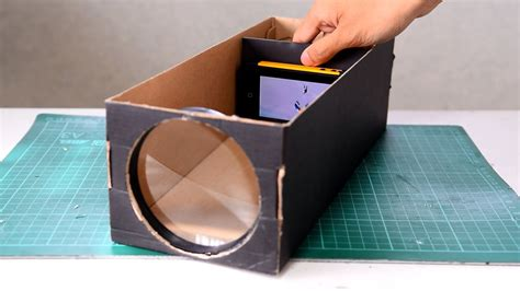 build  smartphone projector   shoebox  steps