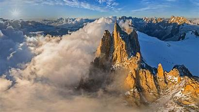 Blanc Mont Aerial Midi Aiguille France Chamonix