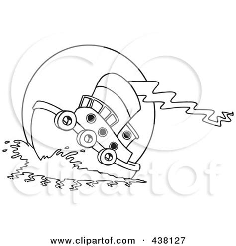Tugboat Outline by Royalty Free Rf Tugboat Clipart Illustrations Vector