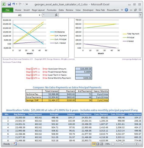 excel amortization templates loan amortization schedule excel with extra payments