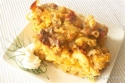 vegetarian recipe baked rigatoni  white mushrooms
