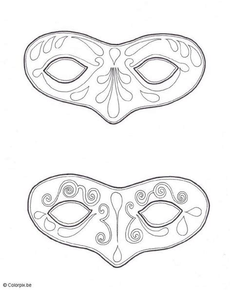 mascaras de carnaval  colorear  tus propias manos