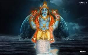 Lord Vishnu Matsya Avatar HD Wallpaper