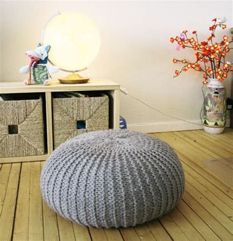 1000 ideas about knitted pouf on floor pouf crochet pouf and pillows
