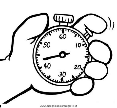 disegno cronometro misti da colorare