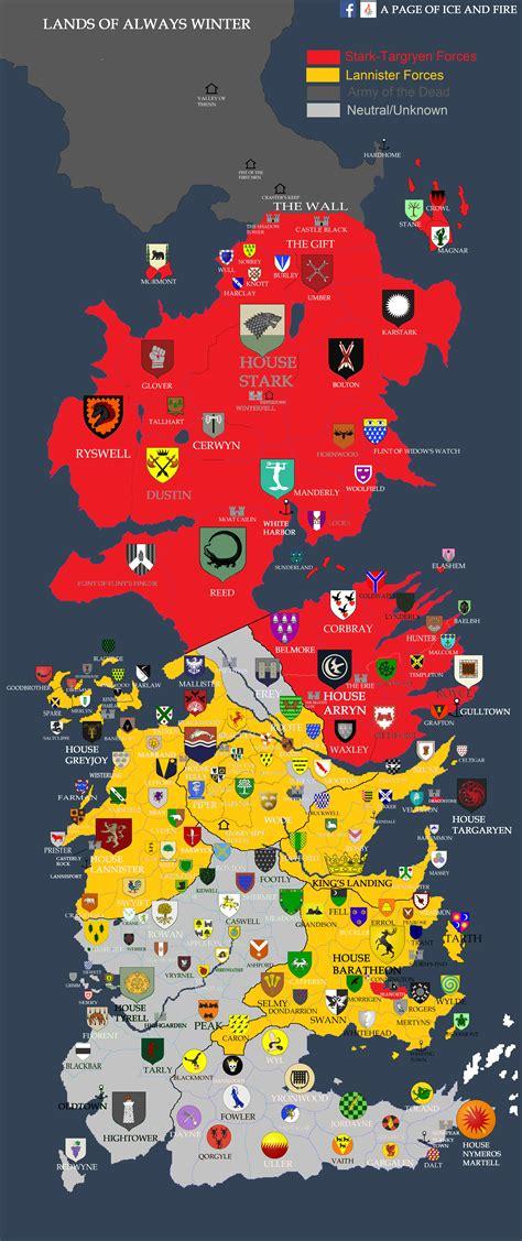 main spoilers political map  westeros   se gra