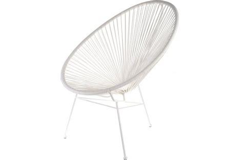 chaise acapulco pas cher fauteuil la chaise longue blanc acapulco fauteuil et