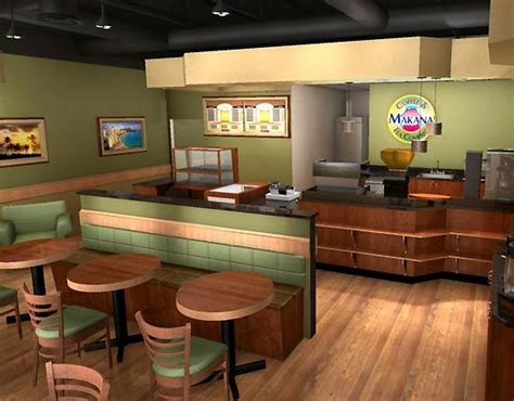 Small Modern Coffee Shop Interior Design Plan