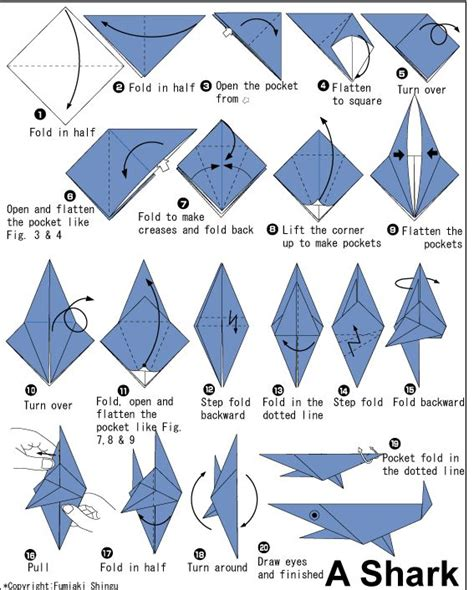 Easy Origami Fish Printable Instructions Ideas For