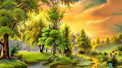 Painting Wallpapers Painter Nature Backgrounds Trees Wallpapercave