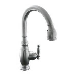 kohler vinnata kitchen faucet shop kohler vinnata vibrant stainless 1 handle pull kitchen faucet at lowes com