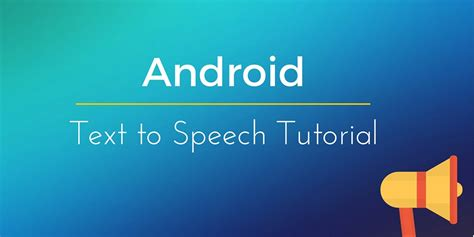android text android text to speech tts
