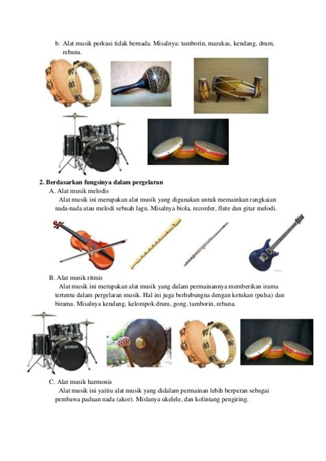 Alat musik yang dimainkan dengan cara digoyangkan atau digetarkan contohnya. Contoh Alat Musik Ritmis Dan Asal Daerah - Lowongan Kerja ...